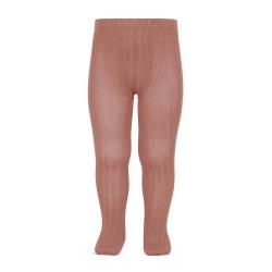 Basic rib tights TERRACOTA