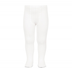 Basic rib tights WHITE