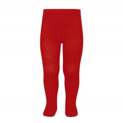 Basic rib tights RED
