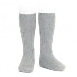 Chaussettes hautes côtelées ALUMINIUM