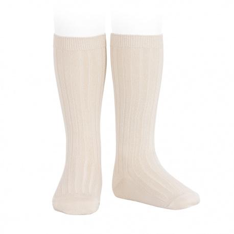 Chaussettes hautes côtelées LIN