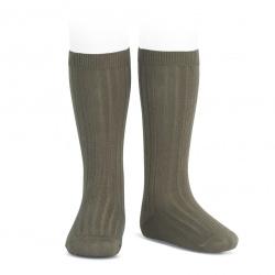 Chaussettes hautes côtelées VISON
