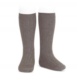 Chaussettes hautes côtelées TRONC