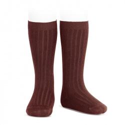 Basic rib knee high socks CAULDRON