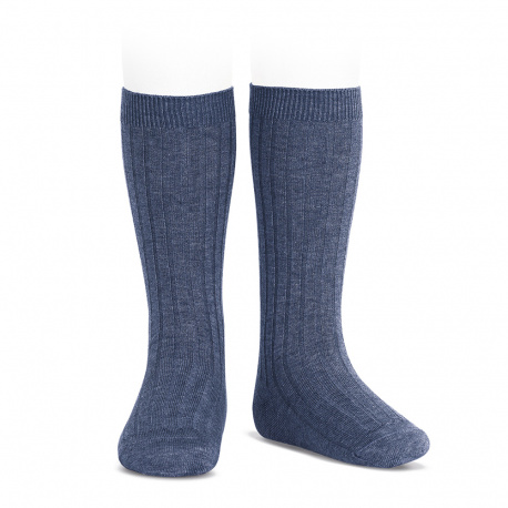 Calze lunghe basic a coste JEANS