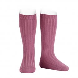 Chaussettes hautes côtelées CASSIS