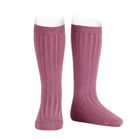 Basic rib knee high socks CASSIS