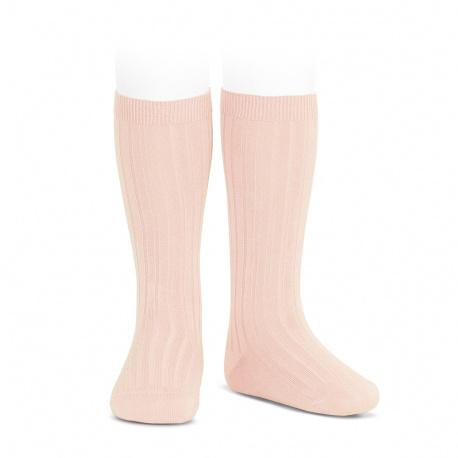 Chaussettes hautes côtelées NUDE