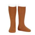 Basic rib knee high socks CINNAMON