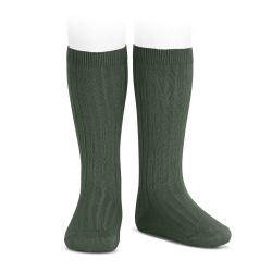 Basic rib knee high socks AMAZONIA