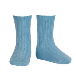Basic rib short socks CLOUD