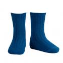 Chaussettes courtes côtelées basiques ATLANTIQUE