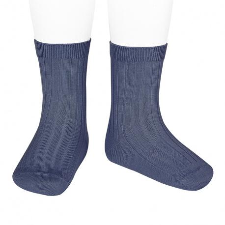 Chaussettes courtes côtelées basiques JEAN