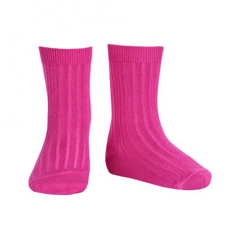 Chaussettes courtes côtelées basiques BUGAINVILLE