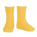 Basic rib short socks YELLOW