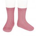 Basic rib short socks TAMARISK