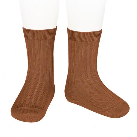 Chaussettes courtes côtelées basiques OXYDE