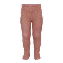 Plain stitch basic tights TERRACOTA