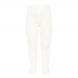 Plain stitch basic tights CREAM