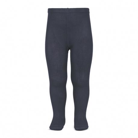 Plain stitch basic tights COAL