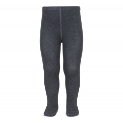 Plain stitch basic tights ANTHRACITE