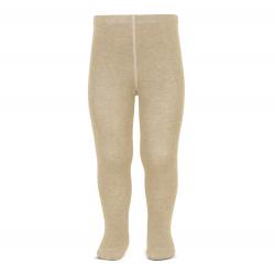 Plain stitch basic tights NOUGAT