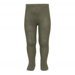 Plain stitch basic tights MINK