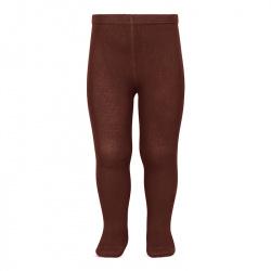 Plain stitch basic tights CAULDRON