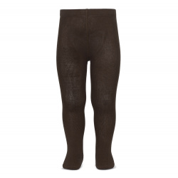 Collants basiques unies MARRON