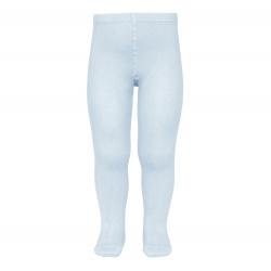 Plain stitch basic tights BABY BLUE
