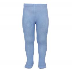 Plain stitch basic tights BLUISH
