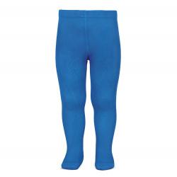 Plain stitch basic tights ELECTRIC BLUE