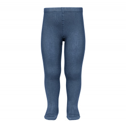 Plain stitch basic tights COBALT