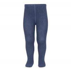 Plain stitch basic tights JEANS