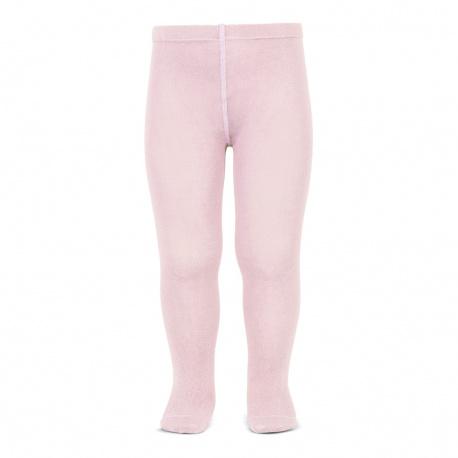 Plain stitch basic tights PINK