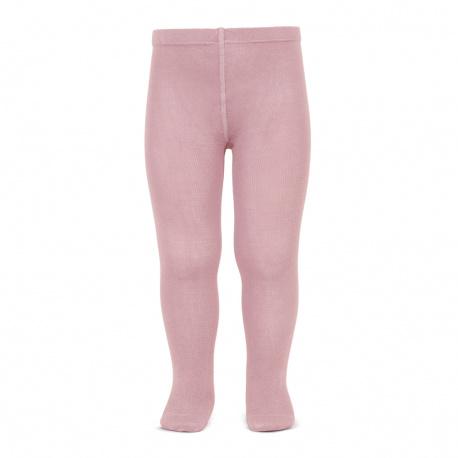 Plain stitch basic tights PALE PINK