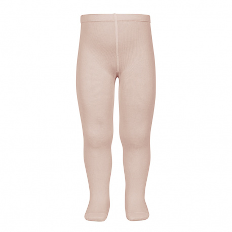 Plain stitch basic tights OLD ROSE