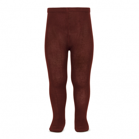 Plain stitch basic tights GARNET