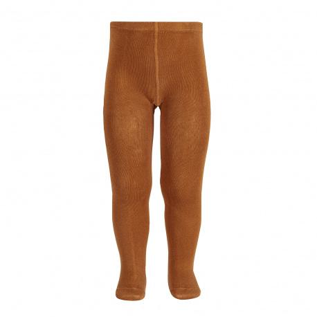 Plain stitch basic tights CINNAMON