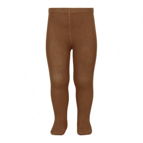Plain stitch basic tights OXIDE