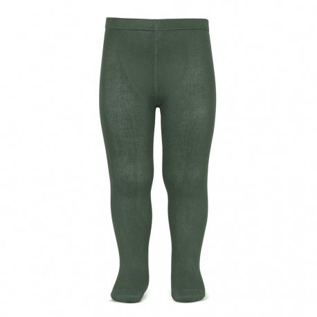 Plain stitch basic tights LICHEN GREEN
