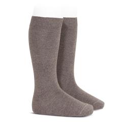 Plain stitch basic knee high socks TRUNK