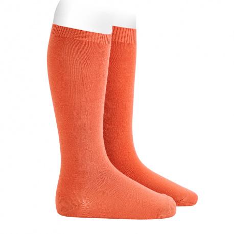 Plain stitch basic knee high socks MANI