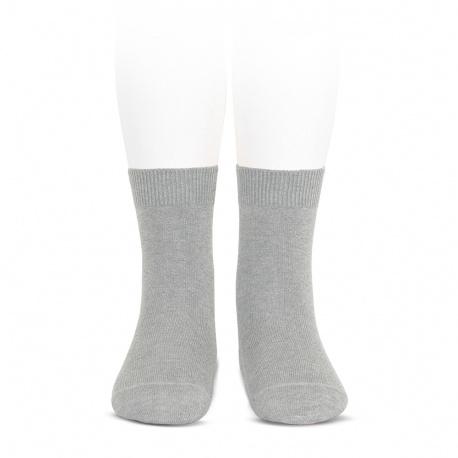 Chaussettes courtes unies basiques ALUMINIUM