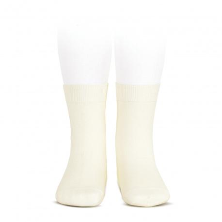 Chaussettes courtes unies basiques ECRU