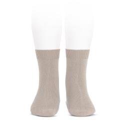 Calcetines básicos punto liso PIEDRA