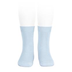 Plain stitch basic short socks BABY BLUE