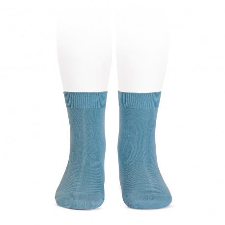 Plain stitch basic short socks CLOUD