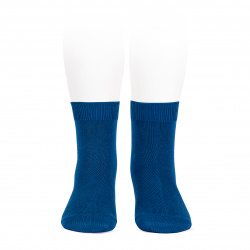 Plain stitch basic short socks ATLANTIC