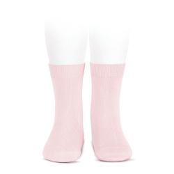 Calcetines básicos punto liso ROSA